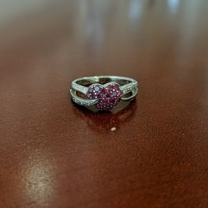 White Gold Ruby Heart Ring - Kay Jewelers